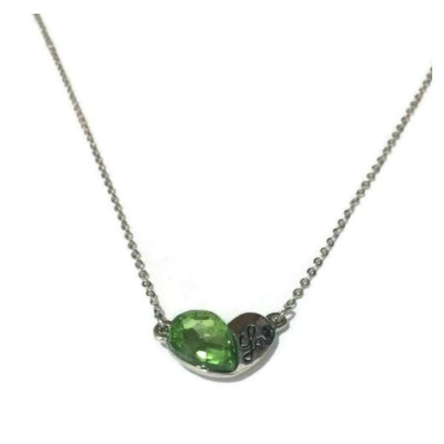 SwarovskiE= Element Heart Green Necklace