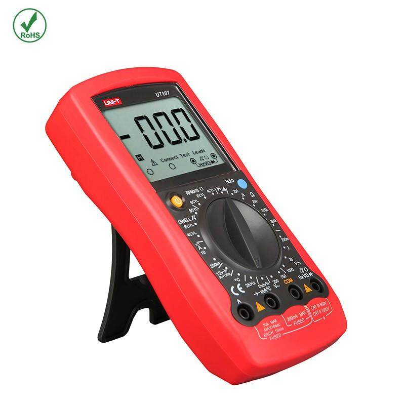 UNI-T UT105/UT107 Handheld Automotive Multipurpose Meters Manual Range Multimeters Input ProtectionAC DC Diode Test - UT105 / UT107