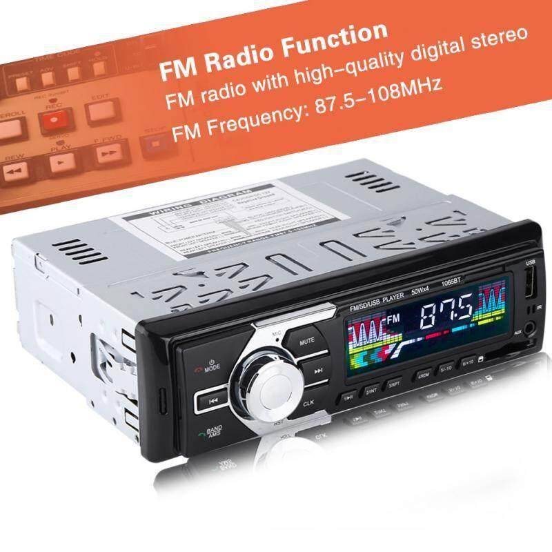 Car Multimedia Players - Bluetooth Hands-free Car MP3 Player Stereo Audio FM Radio AUX USB Remote Control