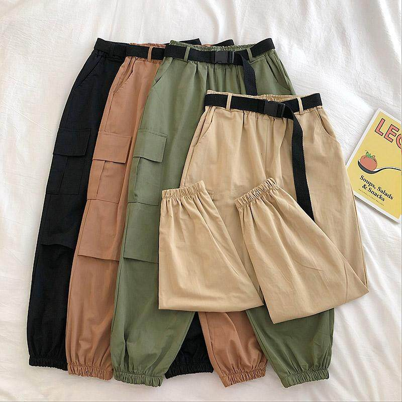 (PRE ORDER) KOREAN NEW SOLID COLOR WITH BELT PANTS
