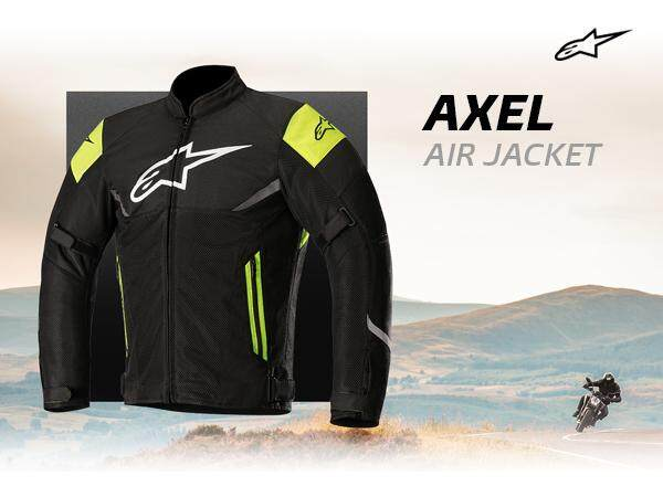 ALPINESTARS AXEL AIR JACKET ( BLACK / YELLOW FLUO)