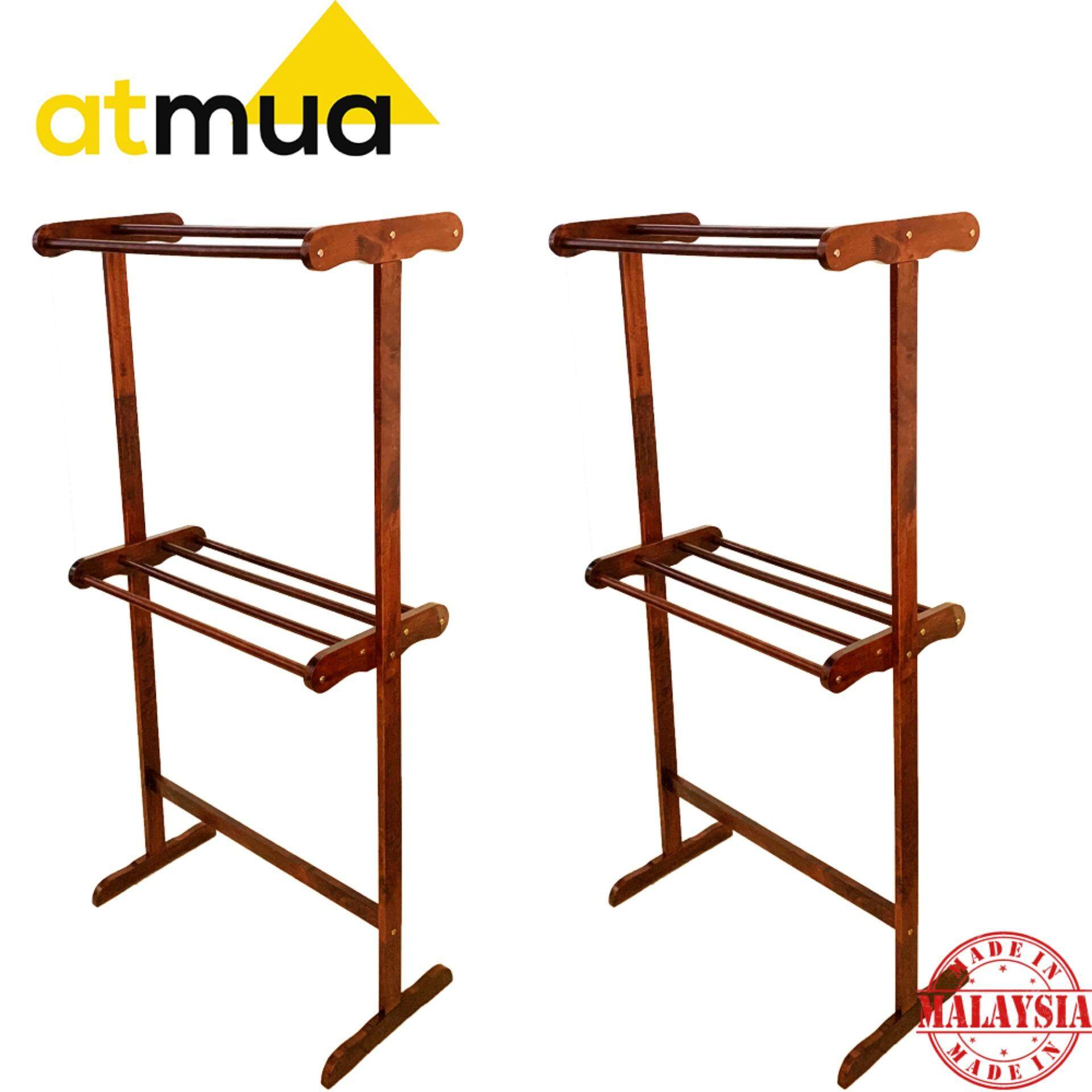 Atmua Habi Big Towel Rack - [Full Solid Wood] *2 Unit*