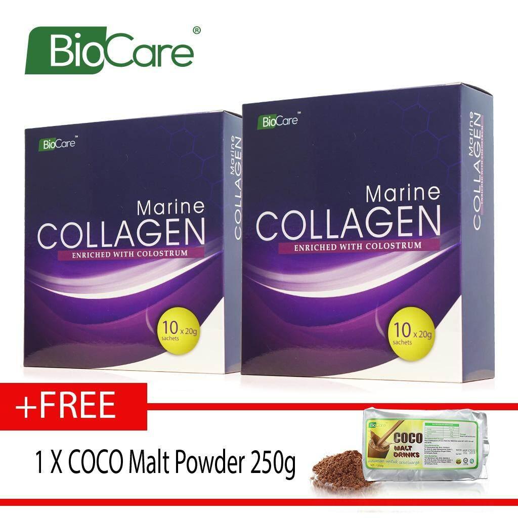 Biocare Marine Collagen X2 boxes Free coco malt 250g