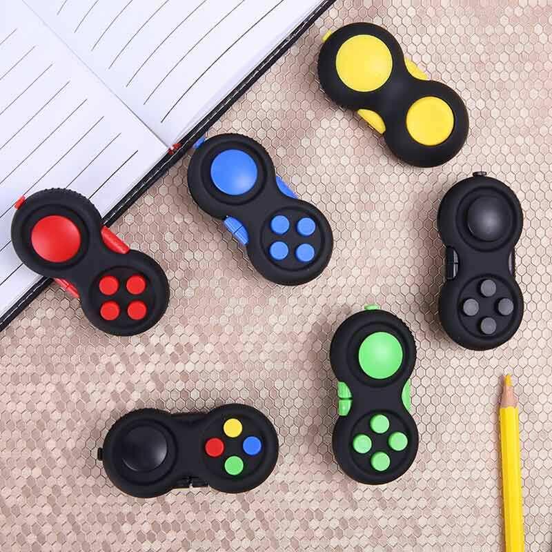 1PC เกมลูกเต๋าสำหรับผ่อนคลายความเครียด Reliever บีบสนุก Magic ของเล่นจับของเล่นความเครียด Rainbow แปลกปริศนารูป