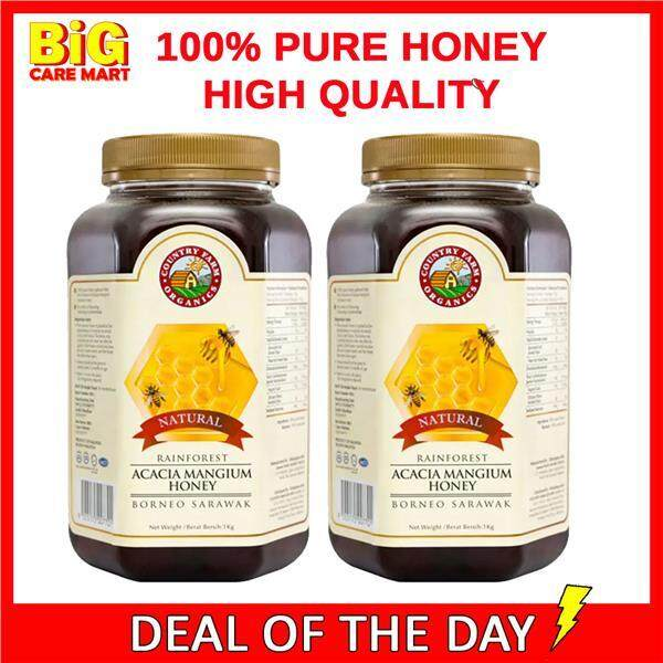 Country Farm Acacia Honey from Rainforest 100% Pure 1kg X 2bottles