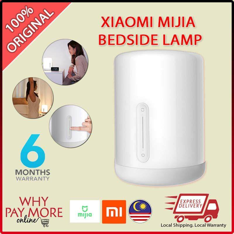 [READY STOCK] Xiaomi Mijia Bedside Lamp 2 Smart Light Voice Control Touch Switch Mi Home App Led Bulb Apple Homekit Siri AI Romantic Bed Lamp