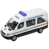 1:43 Mercedes-Benz Van Polis Police Diraja Malaysia PDRM 119 Diecast White Car Model
