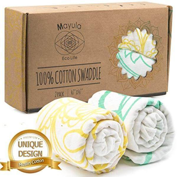 100% Cotton Muslin Swaddle Blankets, Wrap Your Baby with Pure Joy. Boy & Girl Babies Swaddlers. Soft Swaddling & Receiving Blanket. Kids Bedding & Burp Cloth. Bed, Stroller, Changing & Nursing Cover - intl