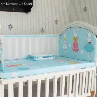 105*60CM Baby Crib Bedding Set Kids Bedding Set Newborn Baby BedSet Crib Bumper Baby Cot Set Baby Bed Bumper Rabbit