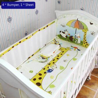 120*70CM Baby Crib Bedding Set Kids Bedding Set Newborn Baby BedSet Crib Bumper Baby Cot Set Baby Bed Bumper Giraffe