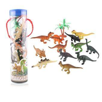 12Pcs Novelty Jurassic Park Toy Plastic Mini Dinosaurs Model Toys