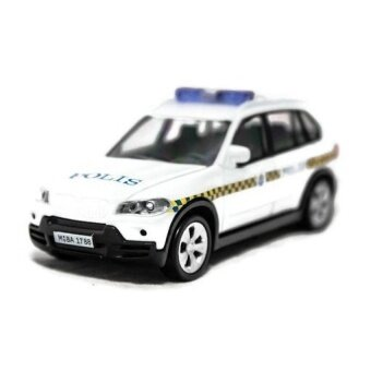1:43 BMW X5 Polis Polisi Diraja Malaysia PDRM 169 Diecast Mobil Warna Biru (Putih)-Internasional