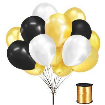 150pcs thickened latex balloons decorative accessories with 1roll 150pcs thickened latex balloons decorative accessories with 1roll curling ribbon for birthday party wedding anniversary stage junglespirit Images