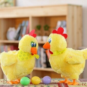1 PC Seksi Jual Menarik Bernyanyi dan Menari dengan Panik Ayam Petelur Di Bawah Elektrik Mewah Boneka Lucu untuk Anak-anak Great hadiah-Internasional