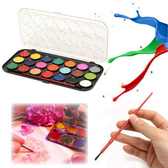 Harga 21 Watercolour Set With Brush Solid Assorted Colour Art Artist KidsDIY Painting