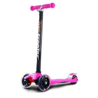 21st Scooter Height Adjustable Flash Wheels Scooter Pink