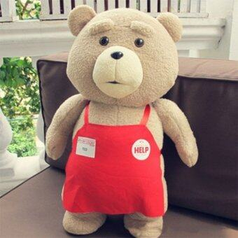 27inch Big Size Teddy Bear Ted 2 Plush Toys In Apron Soft StuffedAnimals Ted Bear Plush Dolls for Baby Kids Gifts