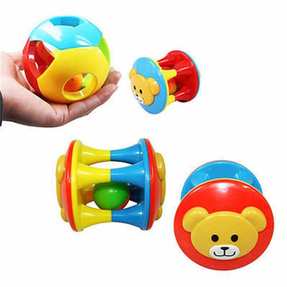 2PCS Babyborn Toy Little Loud Jingle Ball Ring Rattle Educational Grasp Multicolor - intl