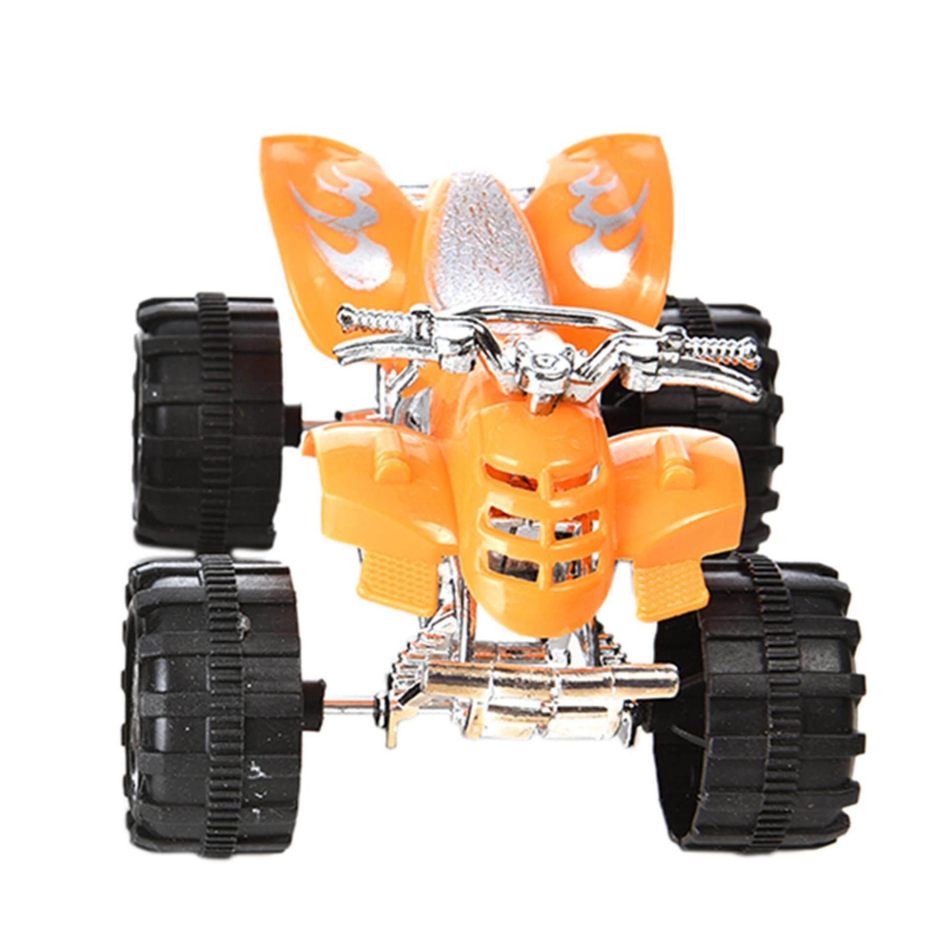 2 Pcs Tarik Kembali Motor Pantai Empat Roda Mini Mobil Anak-anak Anak-anak Mainan-Internasional