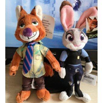 2pcs/lot 20cm Zootopia Plush Toy Rabbit Judy Hopps Fox Nick Wilde Movie Kids Dolls Stuffed Toys Plush Zootopia Dolls Gift - intl