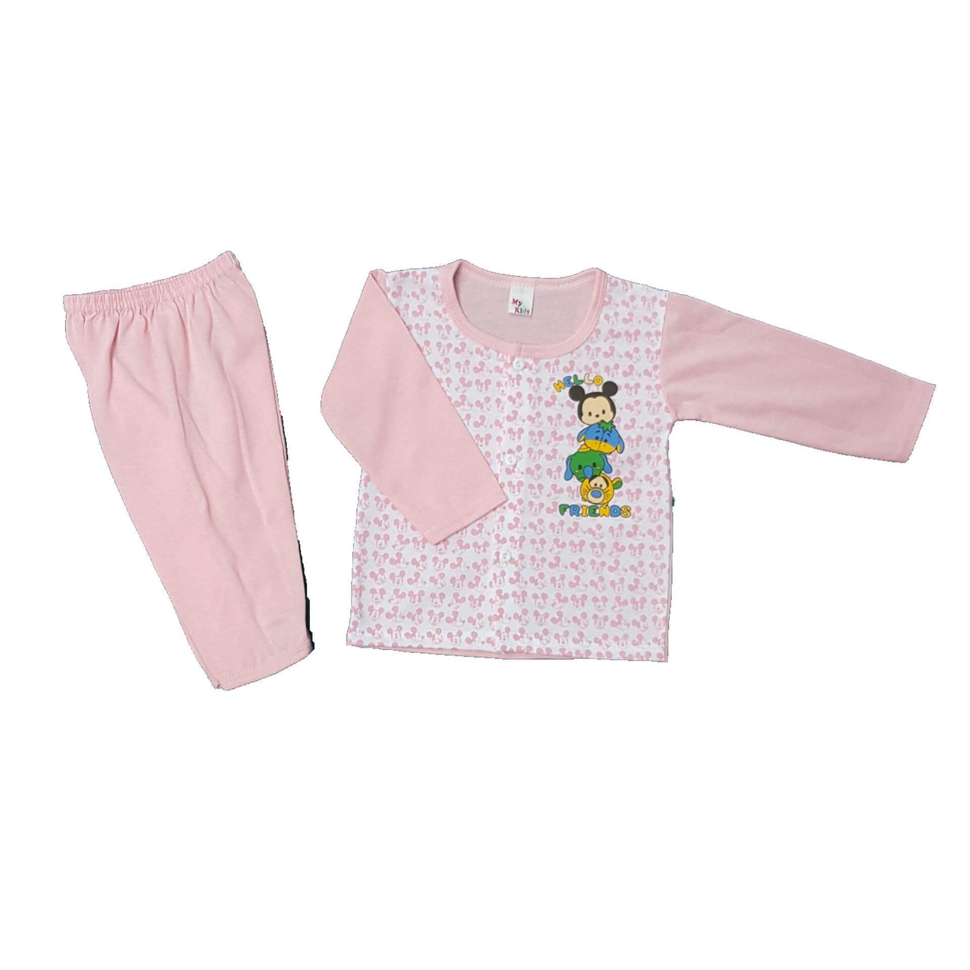 0c066464af03 Newborn   Baby 3 SET Full Printing Pajamas -05 (Fit to Age  6-18Mth ...
