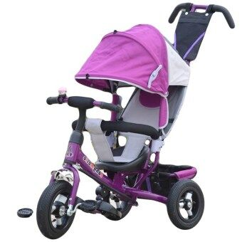 3 in 1 Tricycle Stroller Bike with Roof - Purple | Lazada Malaysia