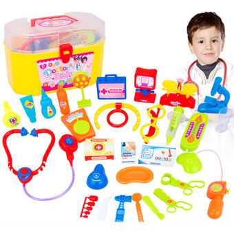 Harga 360DSC 30 Pieces Pretend & Play Doctor Set with Stethoscope andMedical Doctor's Equipment Educational Toy