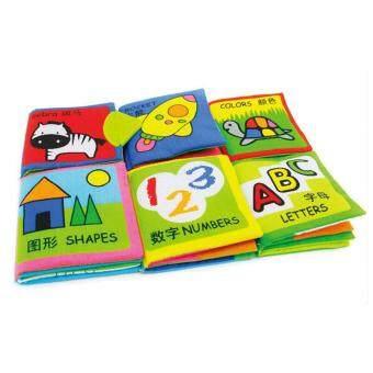 360DSC 6Pcs Washable Classic Baby Cloth Books