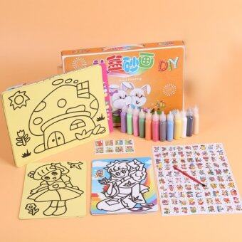 Harga 36pcs Set Kinetic sand painting game tent toy Learning andEducation Kids Pipe diapers Building Block Puzzle Pieces Blocks