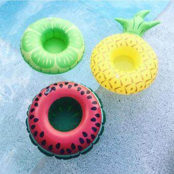 Harga 3pcs Inflatable Pool Float Drink Holder Watermelon Lemon PineappleShape Cup Holder for Kids Bath Pool Parties