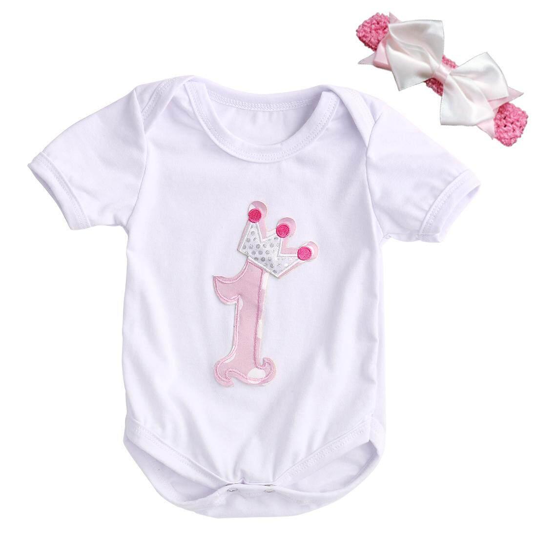 3 Pcs Balita Bayi Gadis Baju Monyet Kaus Terbaik + Ikat Kepala + Rok Tutu Rok