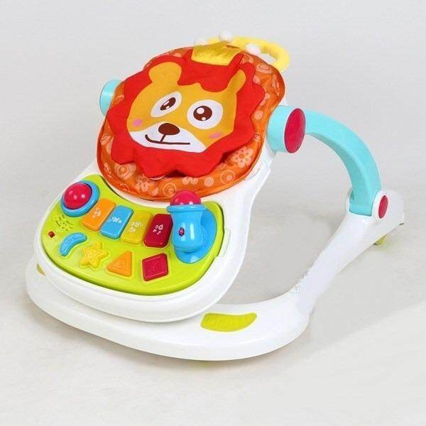 4 in 1 Sit to Stand Baby Grow Up Learning Multi-Purpose Musical Lion Walker