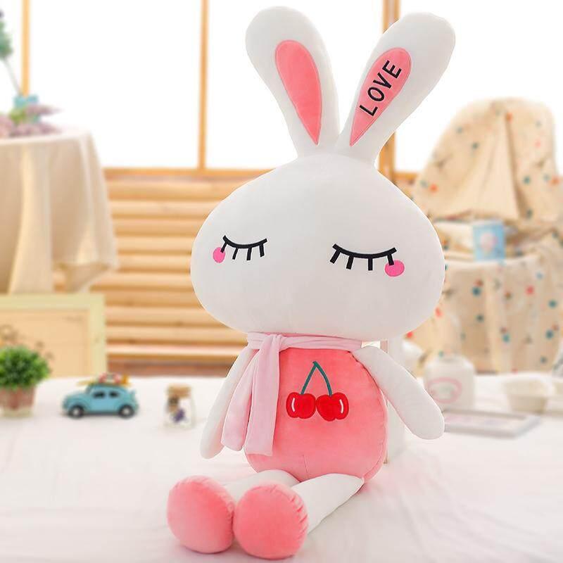 46 Cm Ukuran Ini Tidak Pernah Disajikan Lucu Rabbit Floss Mainan Kelinci Putih Kecil Rag Doll Mainan Sofa bantal Gambar (Buah Kelinci) -Internasional