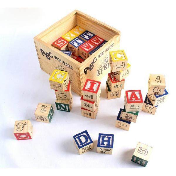48pcs ABC Wooden Blocks  Educational Toy