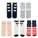 5 Pairs Kids Baby Girls Winter Autumn Knee High Middle Tube Socks for 1-3 Years Old Set