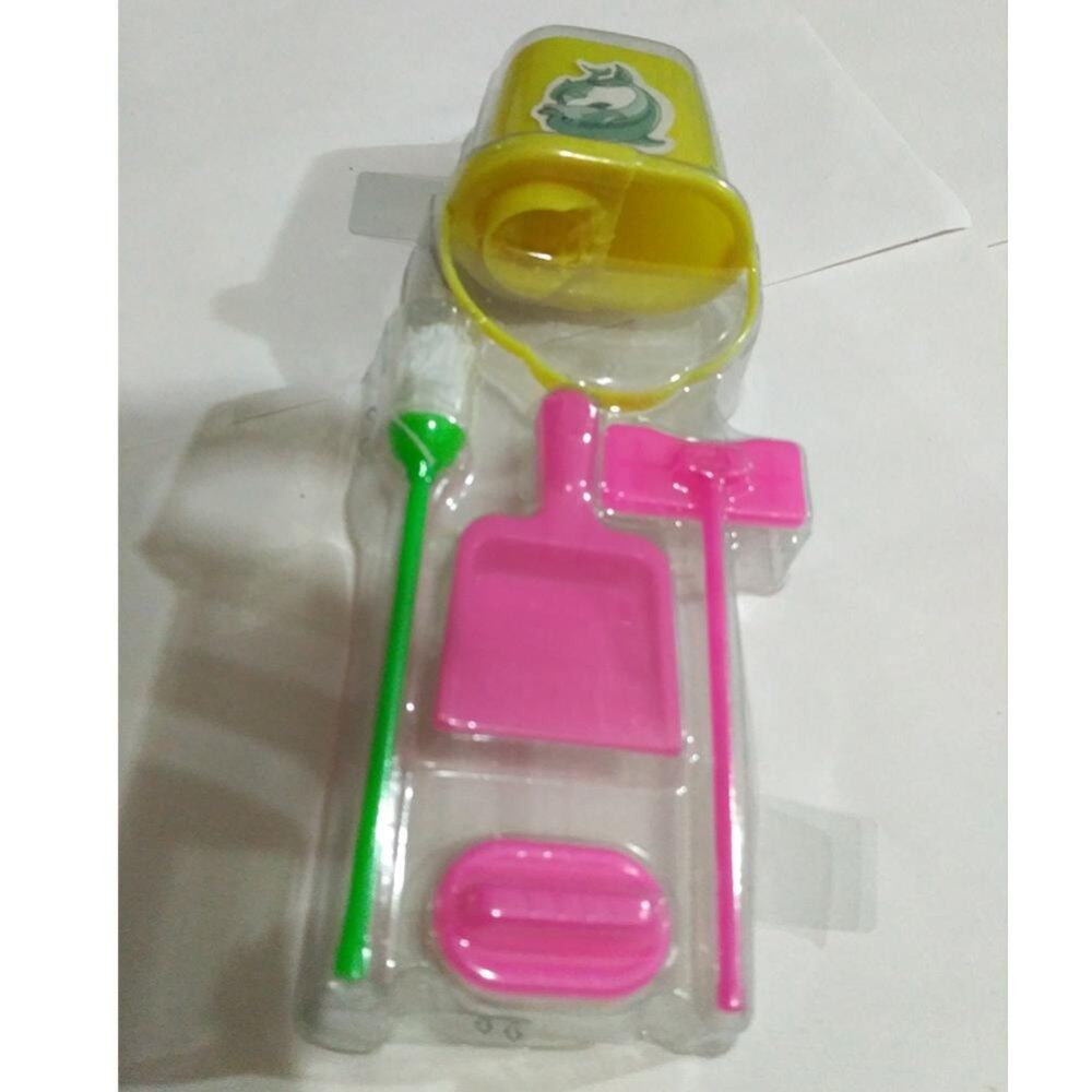 5Pcs Premium Baby Girl Barbie Doll Household Cleaning Tools Simulation Toy Set - intl - 3