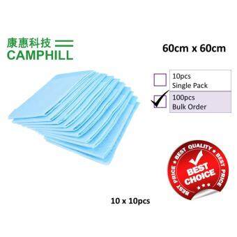 60cm x 60cm CAMSTERILE Disposable Underpad Super Absorbent SanitaryUrine Pad Nursing Baby Care 10pcs/pack x 10PACKS