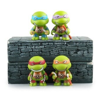 8cm Cute Teenage Mutant Ninja Turtles Action Figure TMNTMichelangelo Donatello Leonardo Raphael Toy Figure Movie Model - intl