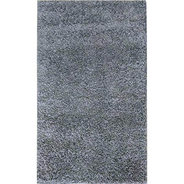 Adgo Chester Shaggy COLLECTION Polos Warna Yang Jelas Tinggi Tumpukan Lembut Karpet Tebal Mewah Fluffy Furry Anak-anak Kamar Tidur Living Dining ruang Shag Floor Permadani, 5X7, S19-Grey-Internasional