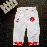 Adorable Comfy Pants with Minnie Design - White