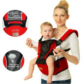 ADORE Top Selling Breathable Mesh Multifunctional Baby Hip SeatCarrier-Cherry Red