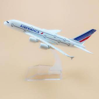 Harga Air France Airbus 380 A380 Airlines Aircraft 16cm Metal AirplaneModel Plane Kids Gift Toy