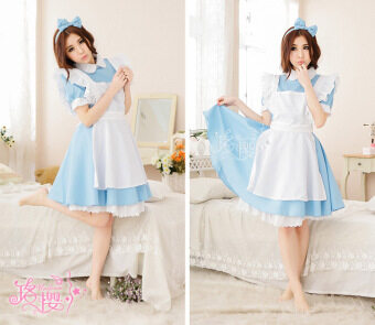 Alice light blue anime maid uniform