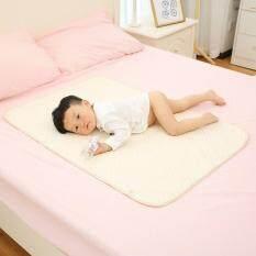 Allwin Stripe Kapas Organik Lapisan Tahan Air Baby Changing Urin Pad Bed Sheets Multi-warna L-Intl
