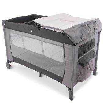 Harga Alpha Living Portable Child Baby Travel Cot Bed Baby Bed KidsFoldable Playpen Baby Crib (Grey)