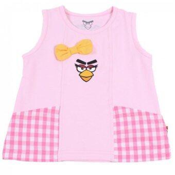 ANGRY BIRD GIRL SINGLET TEE (Pink)
