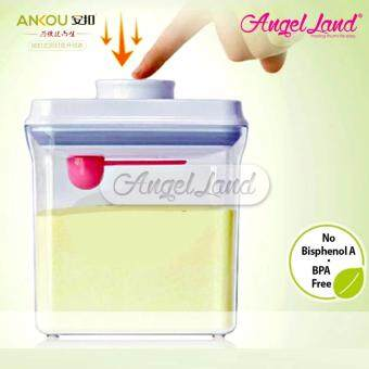 Harga Ankou Airtight 1 Touch Button Container For Milk/Food/Herba Storage(2500ml/1100g/Square-AK-2500-BAF-B)