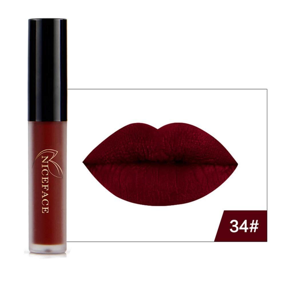 AUkEy Newstyle Bibir Gloss Lipstik Riasan Anti-Air Panjang Abadi Warna Tidak Mengkilap Kosmetik 9 Warna-Internasional