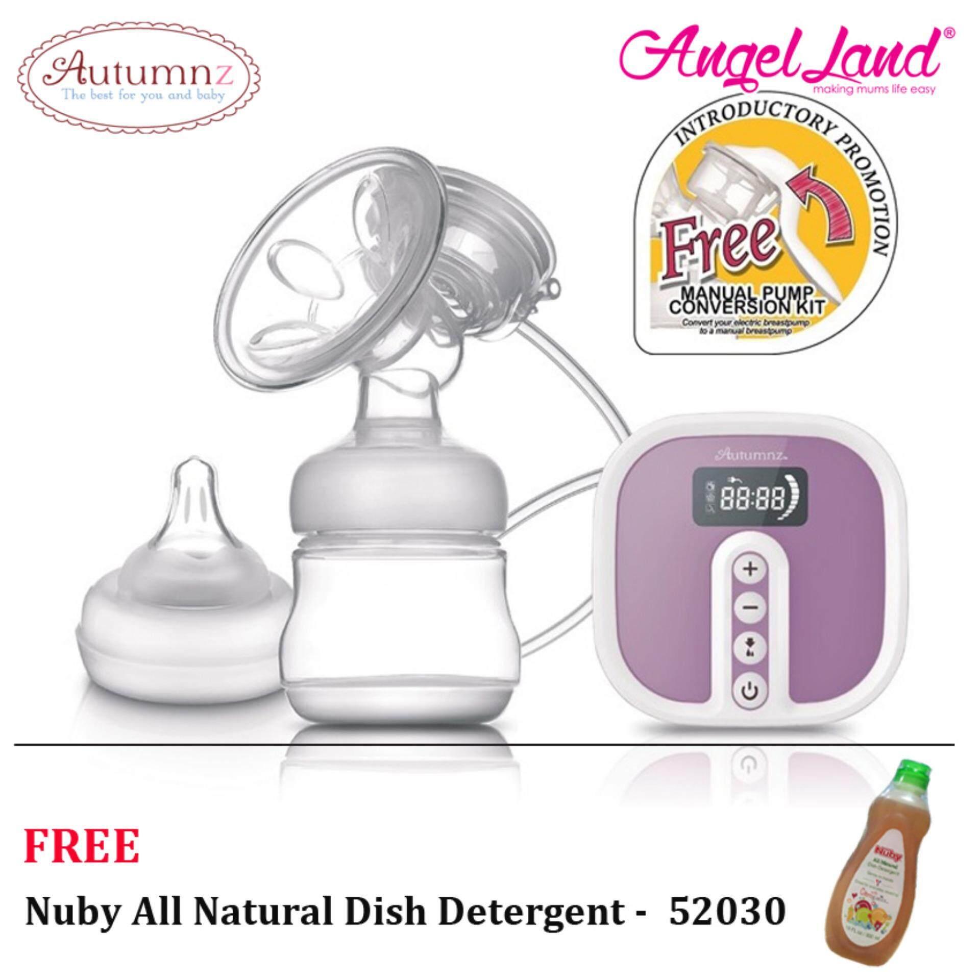 Autumnz - BLOSSOM Convertible Single Electric/Manual Breastpump SiEBP8815 + FOC Nuby All Natural Dish Detergent -  52030