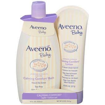 [ iiMONO ] Aveeno Baby Calming Comfort Bath + Lotion Set, Baby Skin Care Products, 2 Items